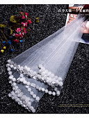 cheap Wedding Dresses-One-tier Modern Style Bridal Princess Simple Style Wedding Wedding Veil Elbow Veils 53 Fringe Splicing Lace Tulle