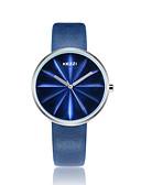 זול שעוני יוקרה-KEZZI בגדי ריקוד נשים שעוני אופנה / שעון יד Japanese שעונים יום יומיים / מגניב PU להקה יום יומי שחור / לבן / כחול