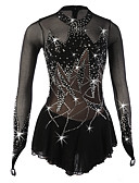 cheap Ice Skating Dresses , Pants & Jackets-Figure Skating Dress Women's / Girls' Ice Skating Dress Black Spandex Rhinestone / Sequin High Elasticity Performance Skating Wear