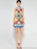 preiswerte Damen Kleider-Damen Boho A-Linie Kleid - Druck, Verziert