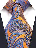 abordables Jupes-Homme Rayonne Soirée Travail Cravate Couleur Pleine Cachemire Jacquard