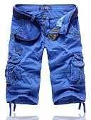 ieftine Pantaloni Bărbați si Pantaloni Scurți-Bărbați Mărime Plus Size Bumbac Larg Pantaloni Chinos Pantaloni Mată