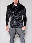 ieftine Maieu & Tricouri Bărbați-Bărbați Guler Pe Gât Tricou Club Bumbac De Bază / Punk & Gotic - Mată / Manșon Lung
