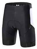 baratos Vestidos de Mulher-SANTIC Homens Calças Para Ciclismo / Shorts para Ciclismo Moto Calças Sólido, Clássico Preto / Branco Roupa de Ciclismo