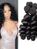 זול הינומות חתונה-4 חבילות שיער ברזיאלי גלי משוחרר שיער אנושי טווה שיער אדם 8-28 אִינְטשׁ שוזרת שיער אנושי 8 א תוספות שיער אדם בגדי ריקוד נשים