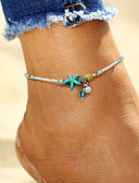cheap Fashion Scarves-Anklet - Imitation Pearl Starfish, Shell Bohemian, Fashion, Boho White For Holiday / Bikini / Women's