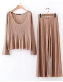 זול חולצות לגברים-צווארון V מכנס חולצה משוחרר סגנון רחוב בגדי ריקוד נשים / אביב / קיץ