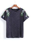 ieftine Tricou-Pentru femei Tricou De Bază / Șic Stradă - Floral / Vară