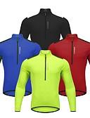 billige Overdele til damer-WOSAWE Herre Langærmet Cykeltrøje - Rød / Grøn / Blå Cykel Trøje, Refleksbånd