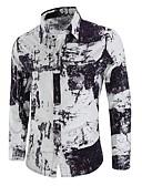 ieftine Tricou Bărbați-Bărbați Mărime Plus Size Cămașă Bumbac Chinoiserie - Geometric Imprimeu