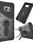 hesapli Cep Telefonu Kılıfları-Pouzdro Uyumluluk Samsung Galaxy S7 edge 360° Dönüş / Şoka Dayanıklı / Satandlı Arka Kapak Zırh Sert PC