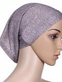abordables Bufandas de Mujer-Mujer Algodón Hijab - Básico Un Color