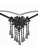 cheap Women's Sexy Clothing-Women's Sexy Ultra Sexy Panties - Tassel, Embroidered