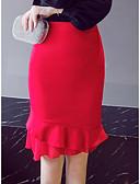 levne Dámské šaty-Dámské Mořská panna Bodycon Sukně - Práce Jednobarevné