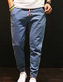זול מכנסיים ושורטים לגברים-בגדי ריקוד גברים בסיסי ג'ינסים מכנסיים אחיד