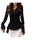cheap Women's Blouses-Women's Street chic T-shirt - Solid Colored / Fall / Winter