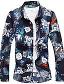 זול טישרטים לגופיות לגברים-גיאומטרי ספורט חולצה - בגדי ריקוד גברים / שרוול ארוך