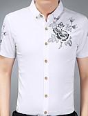 זול טישרטים לגופיות לגברים-אחיד רזה מידות גדולות כותנה, חולצה - בגדי ריקוד גברים / שרוול ארוך