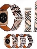 tanie Koszulki i tank topy męskie-Watch Band na Apple Watch Series 4/3/2/1 Jabłko Bransoletka skórzana Prawdziwa skóra Opaska na nadgarstek