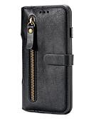 hesapli iPhone Kılıfları-Pouzdro Uyumluluk Apple iPhone 6s Plus / iPhone 6s / iPhone 6 Plus Cüzdan / Kart Tutucu / Satandlı Tam Kaplama Kılıf Solid Sert PU Deri