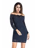 preiswerte Damen Kleider-Damen Übergrössen Bodycon Kleid - Spitze, Solide Übers Knie