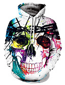 cheap Men's Hoodies & Sweatshirts-Men's Long Sleeve Loose Hoodie - Skull Hooded