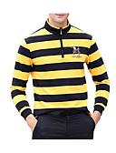 저렴한 남성 티셔츠&탱크 탑-남성용 줄무늬 스탠드 티셔츠, 스트리트 쉬크
