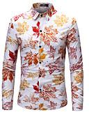 levne Pánské košile-Pánské - Květinový Geometrický Větší velikosti Košile