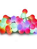 お買い得  メンズTシャツ&タンクトップ-10m ストリングライト 100 LED 温白色 / ホワイト / レッド 調光可能 220 V / 110-130 V / #