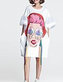 זול שמלות נשים-מעל הברך קולור בלוק - שמלה משוחרר סגנון רחוב בגדי ריקוד נשים