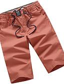 tanie Męskie spodnie i szorty-Męskie Moda miejska Puszysta Bawełna Typu Chino / Szorty Spodnie Solidne kolory Niski stan