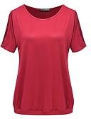 tanie T-shirt-T-shirt Damskie Prosty Jendolity kolor