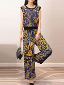 cheap Women's Jumpsuits & Rompers-Women's Going out Slim Blouse - Floral, Floral Pant / Spring / Summer