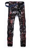 ieftine Pantaloni Bărbați si Pantaloni Scurți-Bărbați Punk & Gotic Șic Stradă Pantaloni Chinos Blugi Pantaloni Geometric camuflaj