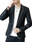 cheap Men's Blazers & Suits-Men's Active Blazer-Solid Colored / Please choose one size larger according to your normal size. / Long Sleeve