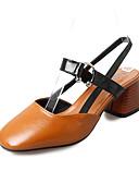 cheap Women's T-shirts-Women's Shoes PU(Polyurethane) Fall Comfort Flats Flat Heel Pointed Toe Bowknot Beige / Brown