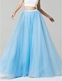abordables Vestidos de Dama de Honor-Corte en A Hasta el Suelo Tul Vestido de Dama de Honor con por LAN TING BRIDE®