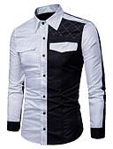 levne Pánské košile-Pánské - Barevné bloky Základní Košile