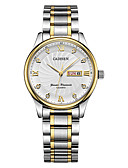 cheap Sport Watches-CADISEN Women's Fashion Watch Dress Watch Japanese Quartz 30 m Water Resistant / Water Proof Calendar / date / day Casual Watch Stainless Steel Band Analog Fashion Elegant White - White / Gold Two