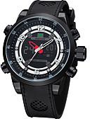 cheap Military Watches-WEIDE Men's Sport Watch Japanese Digital Rubber Black 30 m Water Resistant / Waterproof Calendar / date / day Dual Time Zones Analog-Digital Luxury - Black / Large Dial