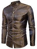 رخيصةأون تيشيرتات وتانك توب رجالي-للرجال قميص عمل سادة / كم طويل