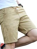 tanie Męskie koszulki polo-Męskie Rozmiar plus Bawełna Szczupła Typu Chino / Krótkie spodnie Spodnie - Plisy, Jendolity kolor / Sport