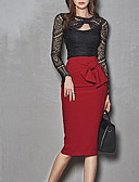 זול שמלות נשים-עד הברך אחיד - שמלה צינור סגנון רחוב בגדי ריקוד נשים