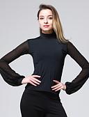 preiswerte Brautmutter Kleider-Latein-Tanz Oberteile Damen Training Chinlon Georgette Kombination Langarm Normal Top