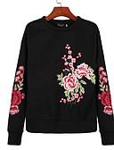 זול טרנינגים וקפוצ'ונים לנשים-פרחוני טרנינג בסיסי בגדי ריקוד נשים / אביב
