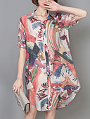 cheap Women's Dresses-Women's Basic Shirt - Floral Shirt Collar