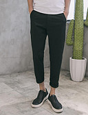 זול מכנסיים ושורטים לגברים-בגדי ריקוד גברים כותנה סקיני מכנסיים אחיד