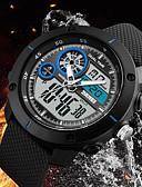 baratos Relógio Esportivo-SKMEI Homens Relógio Casual / Relógio de Moda / Relógio Elegante Chinês Calendário / Cronógrafo / Impermeável PU Banda Luxo / Casual Preta / Cinza / Cronômetro / Noctilucente