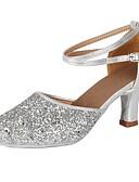 ieftine Bluză-Pentru femei Pantofi Dans Latin Paillertte / Imitație de Piele Călcâi Paiete / Cataramă Toc Cubanez Personalizabili Pantofi de dans