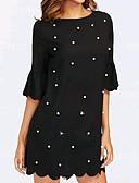 cheap Women's Dresses-Women's Basic Cotton Sheath Dress Black / Spring
